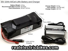 Click here for a larger e-bike lithium-ion battery pack