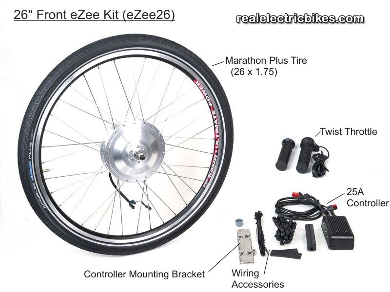Complete 36 Volt 350 Watt Rear Wheel Electric Assist